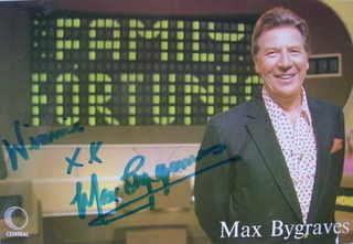 Max Bygraves autograph