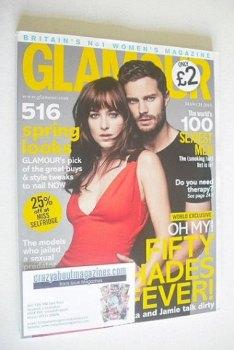 Glamour magazine - Dakota Johnson and Jamie Dornan cover (March 2015)