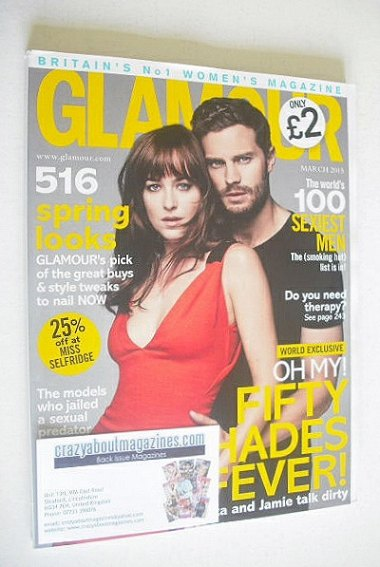 <!--2015-03-->Glamour magazine - Dakota Johnson and Jamie Dornan cover (Mar