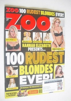 Zoo magazine - 100 Rudest Blondes Ever cover (6-12 March 2015)