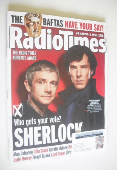 <!--2015-03-28-->Radio Times magazine - Martin Freeman and Benedict Cumberb