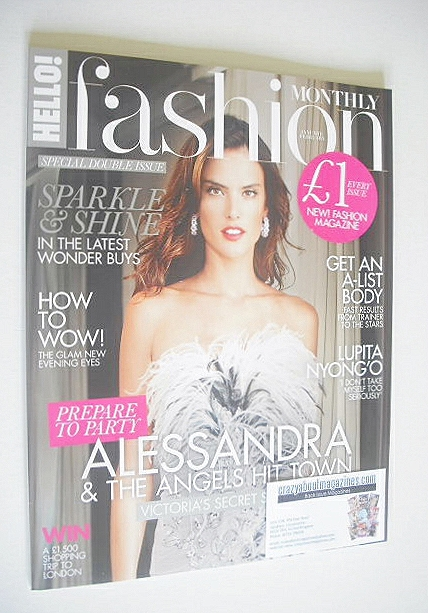<!--2015-01-->Hello! Fashion Monthly magazine - Alessandra Ambrosio cover (