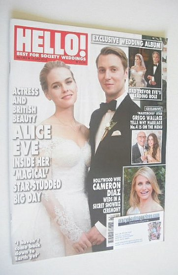 <!--2015-01-19-->Hello! magazine - Alice Eve and Alex Cowper-Smith cover (1