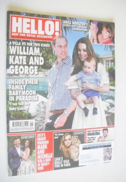 <!--2015-02-02-->Hello! magazine - Prince William, Kate and Prince George c