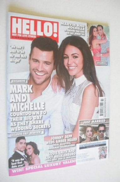 <!--2015-02-16-->Hello! magazine - Mark Wright and Michelle Keegan cover (1