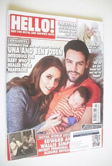 <!--2015-03-02-->Hello! magazine - Una and Ben Foden and baby cover (2 Marc