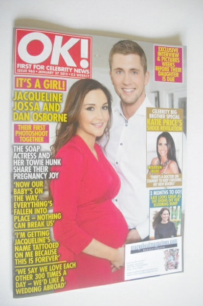 <!--2015-01-27-->OK! magazine - Dan Osborne and Jacqueline Jossa cover (27