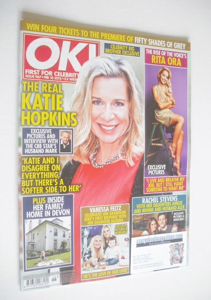 <!--2015-02-10-->OK! magazine - Katie Hopkins cover (10 February 2015 - Iss