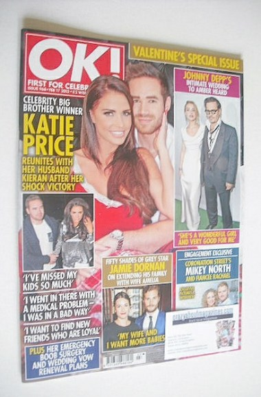 <!--2015-02-17-->OK! magazine - Katie Price cover (17 February 2015 - Issue