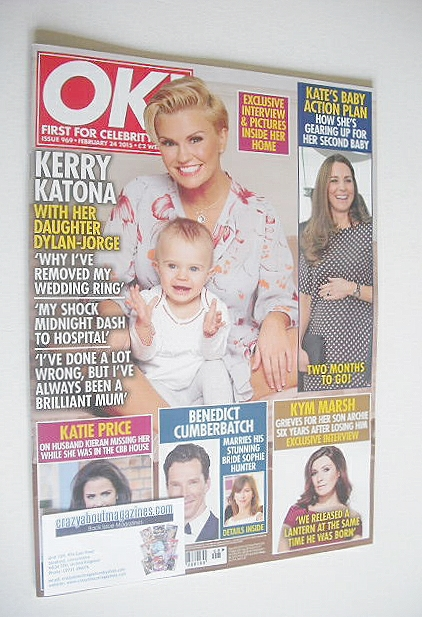 <!--2015-02-24-->OK! magazine - Kerry Katona cover (24 February 2015 - Issu