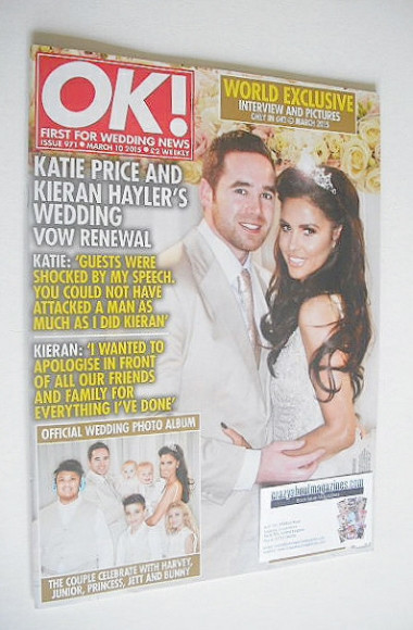 <!--2015-03-10-->OK! magazine - Katie Price and Kieran Hayler wedding cover