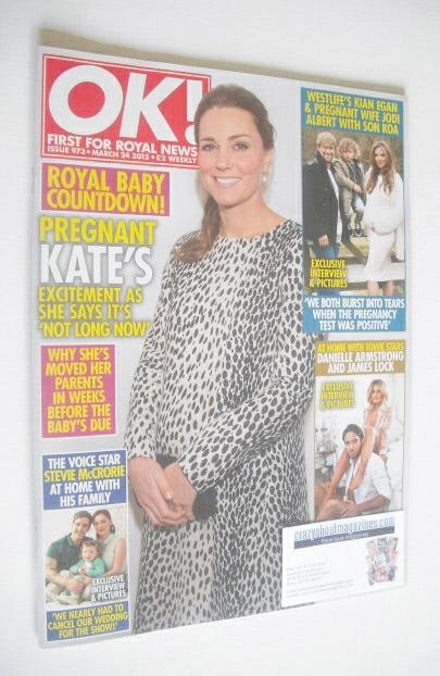 <!--2015-03-24-->OK! magazine - The Duchess of Cambridge cover (24 March 20