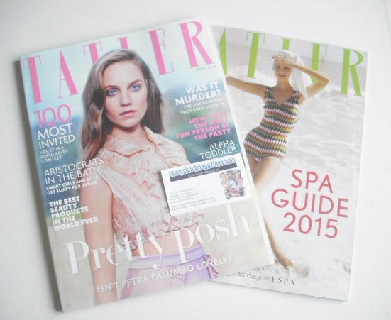 <!--2015-04-->Tatler magazine - April 2015 - Petra Palumbo cover