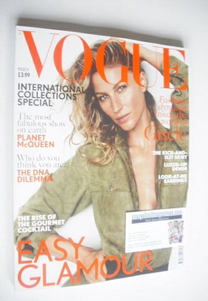 <!--2015-03-->British Vogue magazine - March 2015 - Gisele Bundchen cover
