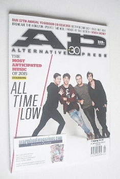 Alternative Press magazine - February 2015 - All Time Low cover (Cover 2 of 2)