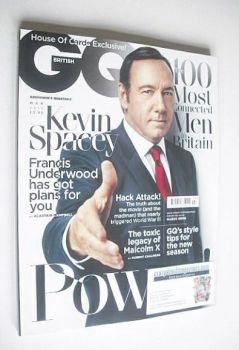 British GQ magazine - March 2015 - Kevin Spacey cover