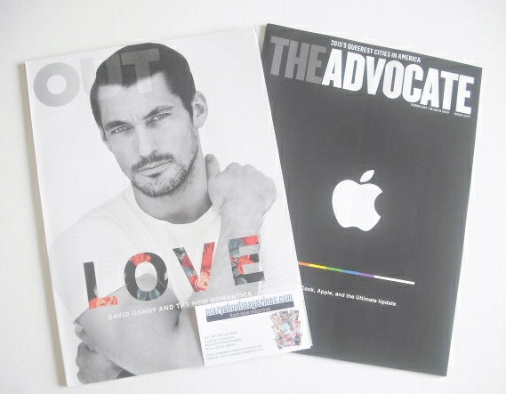 <!--2015-02-->Out magazine - David Gandy cover (February 2015)