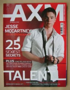 AXM magazine - Jesse McCartney cover (July 2008)