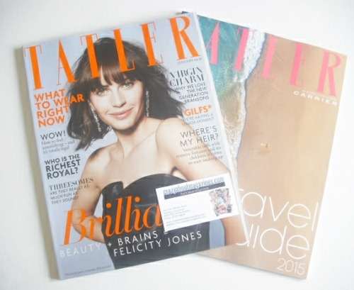 <!--2015-01-->Tatler magazine - January 2015 - Felicity Jones cover