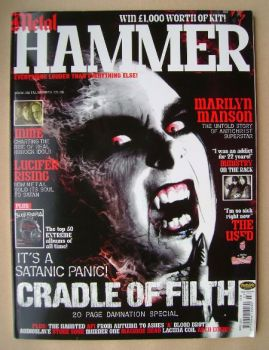 Metal Hammer magazine - Cradle Of Filth cover (March 2003)