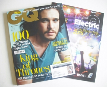 British GQ magazine - January 2015 - Kit Harington cover