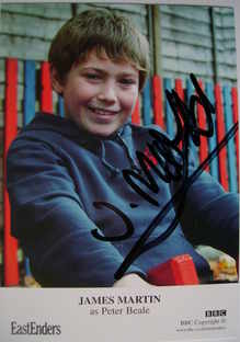 James Martin autograph (ex EastEnders actor)