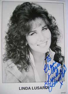 Linda Lusardi autograph