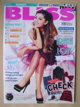 Bliss magazine - December 2013 - Ariana Grande cover