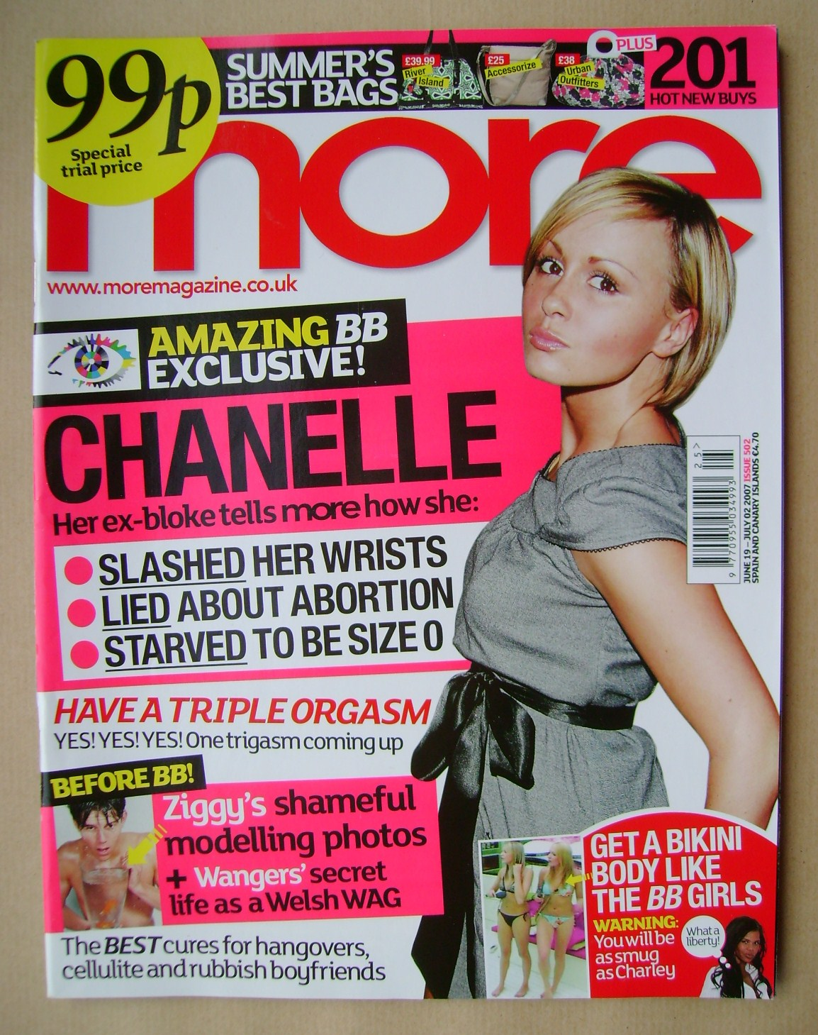 More Magazine Chanelle Hayes Cover 19 June 2 July 2007