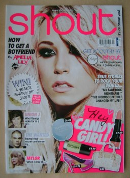 Shout magazine - Amelia Lily cover (6 March - 2 April 2013)