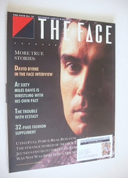 The Face magazine - David Byrne cover (October 1986 - Issue 78)