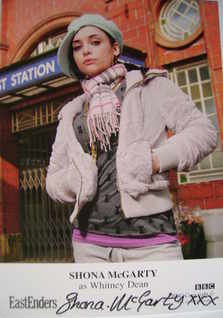 Shona McGarty autograph (EastEnders actor)