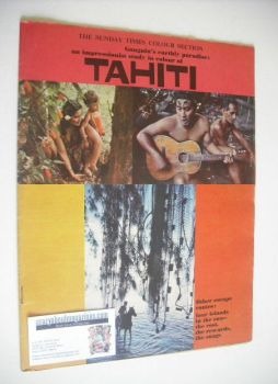 The Sunday Times Colour Section magazine - Tahiti cover (25 February 1962)