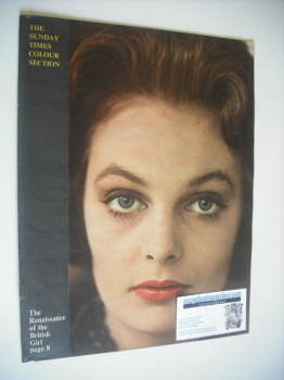 The Sunday Times Colour Section magazine - The Renaissance of the British Girl cover (4 March 1962)