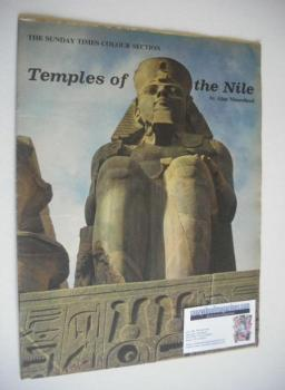The Sunday Times Colour Section magazine - Temples Of The Nile cover (11 March 1962)