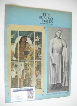 The Sunday Times Colour Section magazine - Maugham Under The Hammer cover (18 March 1962)