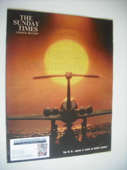 The Sunday Times Colour Section magazine - The VC 10 cover (27 May 1962)