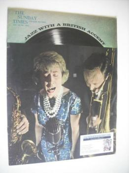 The Sunday Times Colour Section magazine - Jazz With A British Accent cover (10 June 1962)