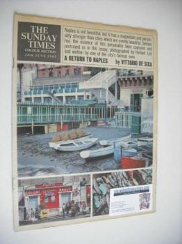 The Sunday Times Colour Section magazine - A Return To Naples cover (24 June 1962)