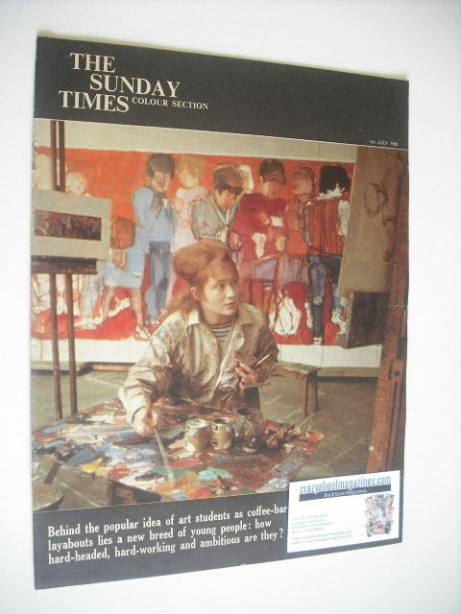 <!--1962-07-01-->The Sunday Times Colour Section magazine - Art Students co