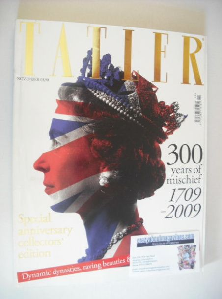 <!--2009-11-->Tatler magazine - November 2009 - Queen Elizabeth II cover