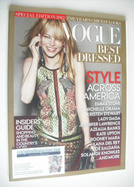 Vogue Best Dressed Special Edition magazine (2012 - Emma Stone cover)