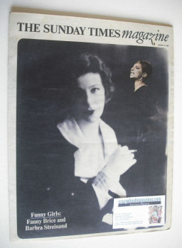 The Sunday Times magazine - Fanny Brice and Barbra Streisand (12 January 1969)