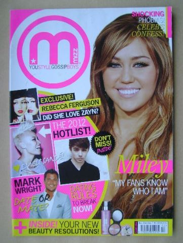 <!--2011-12-22-->MIZZ magazine - Miley Cyrus cover (22 December 2011 - 11 J
