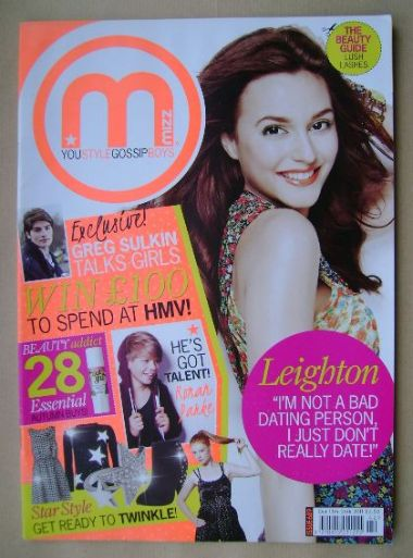 <!--2011-10-13-->MIZZ magazine - Leighton Meester cover (13-26 October 2011