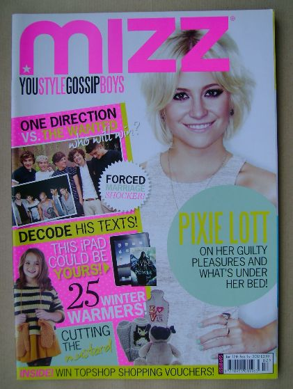 <!--2012-01-12-->MIZZ magazine - Pixie Lott cover (12 January - 1 February