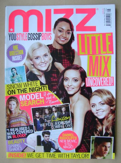 <!--2012-02-23-->MIZZ magazine - Little Mix cover (23 February - 14 March 2