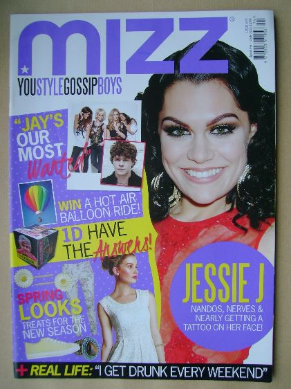 <!--2012-04-05-->MIZZ magazine - Jessie J cover (5-25 April 2012)