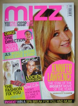 MIZZ magazine - Jennifer Lawrence cover (15 March - 4 April 2012)
