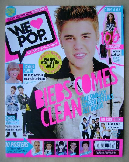 <!--2012-06-27-->We Love Pop magazine - Justin Bieber cover (27 June - 24 J